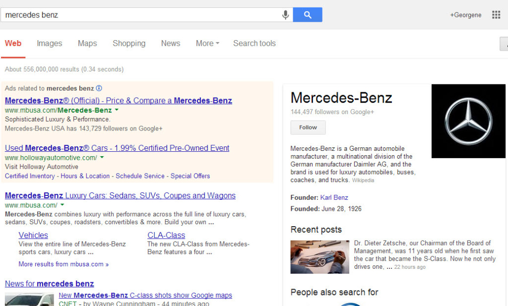 "Query for ""Mercedes Benz"""